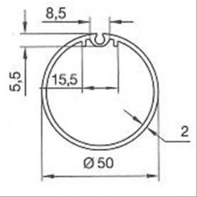Adaptations pour Moteurs SOMFY / SIMU Ø 40 mm | Tubes Madopron de 50