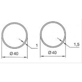 Adaptations pour Moteurs SOMFY / SIMU Ø 40 mm | Tubes ronds de 40  ep 1mm