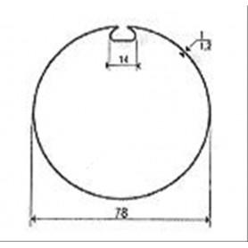 Adaptations pour Moteurs SOMFY / SIMU Ø 50 mm | Tube 78 à goutte plate 14
