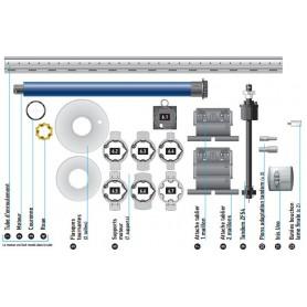 Kit motorisation SOMFY pour bloc baie moteur Filaire 20 Nm