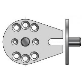 Plaque de store avec pion de centrage Ø 12 mm