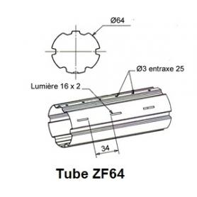 Tube ZURFLUH de Ø 64 mm x 0.6 | Longueur 1500mm
