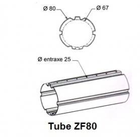 Tube ZURFLUH de Ø 80 mm x 1.0 | Longueur 1000mm