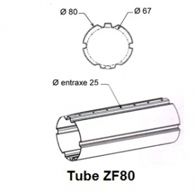 Tube ZURFLUH de Ø 80 mm x 1.0 | Longueur 2000mm