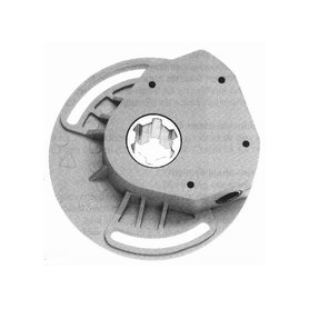 Treuil rapport 1/5 -gris -entrée hexa 7 mm -sortie crabot