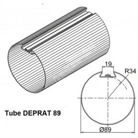 Tube DEPRAT de Ø 89 mm x 1.0 | Longueur 1500mm
