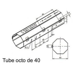 Tube OCTO de Ø 40 mm x 0.6 | Longueur 2000mm