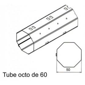 Tube OCTO de Ø 60 mm x 0.6   Longueur 1500mm