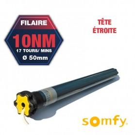 Moteur Somfy ILMO TH 10/17 avec tête étroite