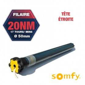 Moteur Somfy ILMO TH 20/17 avec tête étroite