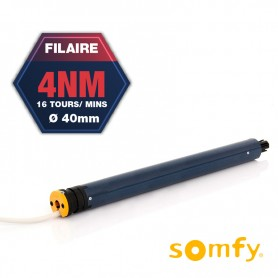Moteur filaire SOMFY LS40 - Ø40 mm - 4 Nm - 16 tr/mn