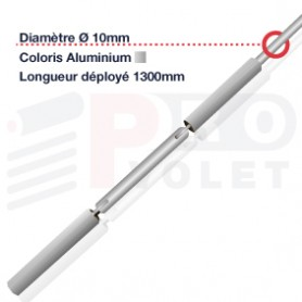 Tringle oscillante aluminium Ø10 mm | Largeur 1300mm