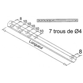 Tige de sortie pour double cardan hexa de 10 - Longueur 350 mm