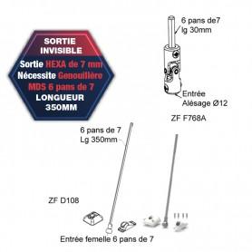 Sortie de caisson invisible - Hexa 7mm