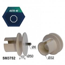 Embout pour tube octo de 40 | Moyeu hexa de 18
