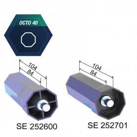 Embouts pour poulie SELVE et tube octo de 40 - Embout avec axe Ø 10 rentrant de 12 mm