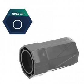 Embout pour tube octo de 40 mm