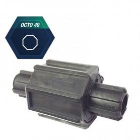 Embout débrayable pour tube octo de 40 mm