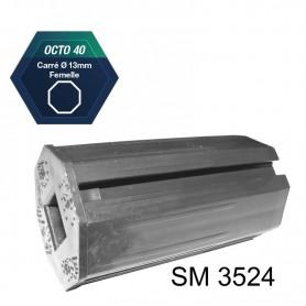 Embouts pour tube octo de 40 Carré de 13 mm intérieur - Longueur 76 mm