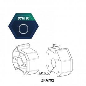 Support d'axe pour tube octo de 60 pour compensateur