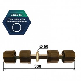 Jonction double pour tube octo de 60