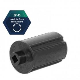Embouts ZF45 avec palier Ø 18 mm Carré de 8 débouchant