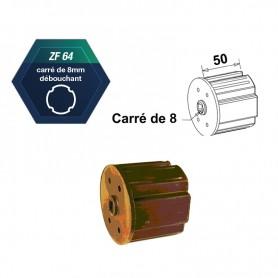 Embouts ZF64 carré de 8 mm Carré de 8 débouchant