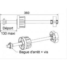 Tandem réglable ZF80 pour volet lourd