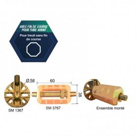 Embout avec fin de course pour tube Ø 40 mm