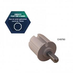 Embout pour tube de Ø 60 mm