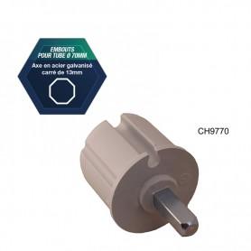 Embouts pour tube Ø 70 mm rebord de 2 mm - Avec rebord de 2 mm