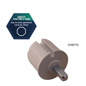 Embouts pour tube Ø 78 mm - Avec rebord de 2 mm