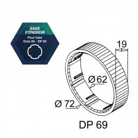Bagues d'épaisseur DP62 et octo de 60