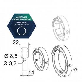 Bagues pour verrou automatique pour tube ZF64