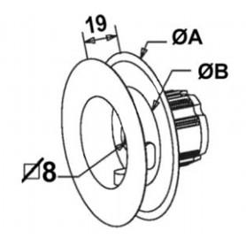 Poulies à embout pour tube ZF45 Ø156 mm