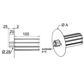 Embouts flasque monobloc Ø 158 mm pour octo 40
