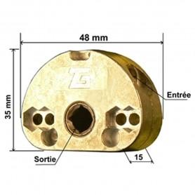 Mini treuil pour store - entrée hexa 6mm - sortie carré 7mm