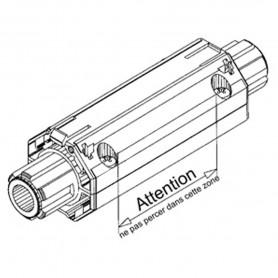 Embout débrayeur pour tube octo de 40mm