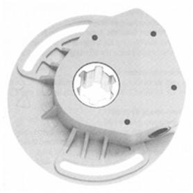 Treuil 1/8 noir à vis sans fin - entrée carré de 6 mm -sortie crabot