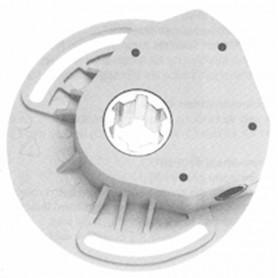 Treuil 1/5 gris à vis sans fin - entrée carré de 6 mm -sortie crabot