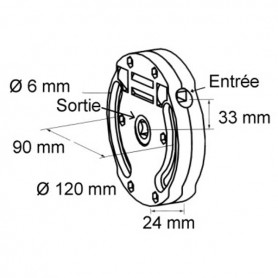 Treuil 1424 avec fin de course - Entrée hexagonale de 7mm - sortie carré de 10 mm