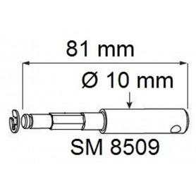 Ténons pour treuils 1415 - Lg 81 mm pour treuils Ø 58 mm
