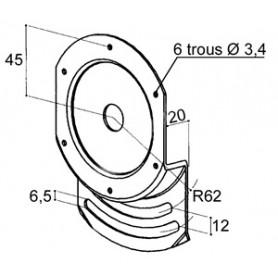 Plaque d'orientation pour treuils ZFC181 & ZFC183