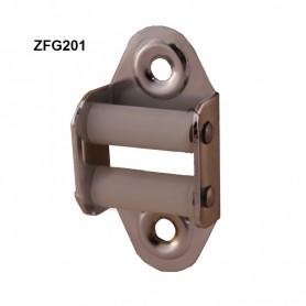 Guide sangle 20mm acier Nickelé chromé vertical à 2 galets