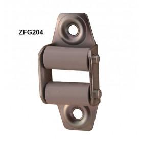 Guide sangle 17mm acier vertical à 2 galets