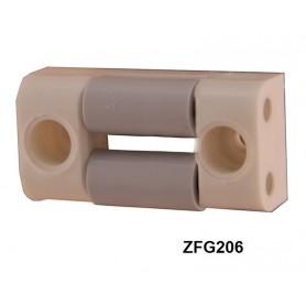 Guide sangle PVC horizontal à 2 galets