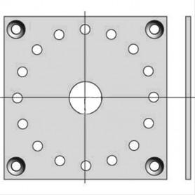 Plaque 100 x 100 pour moteurs Ø 50 et Ø 60 CSI