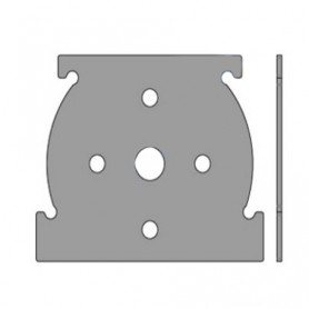 Plaque support moteur SOMFY pour coffre TITAN