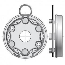 Support universel avec anneau à boucle | entraxe 44mm