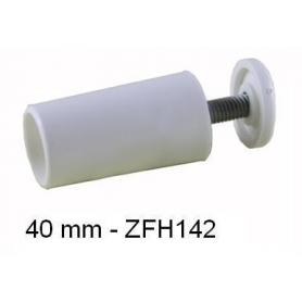 Butée d'arrêt ronde 40mm Blanche